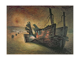 Vestiges of Mulberry, Arromanches, c.1943 Giclee Print by Francis Michael Forster