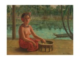Making Kava, Samoa, 1901 Giclee Print by Theodore Wores
