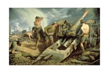 Canadian Artillery in Action, c.1915 Giclee Print by Kenneth Forbes