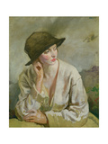 Portrait of Miss Sinclair Gicléetryck av Sir William Orpen