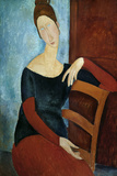 The Artist's Wife (Jeanne Huberterne) 1918 Giclee Print by Amedeo Modigliani