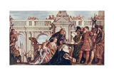 The Family of Darius before Alexander the Great (356-23 BC) Illustration from 'Lives of Great Men… Giclee Print by  Veronese