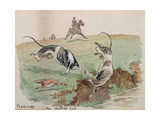 The Month of February: Coursing Giclee Print by George Derville Rowlandson
