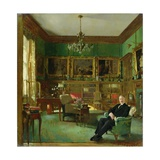 Otto Beit in His Study at Belgrave Square, 1913 Gicléetryck av Sir William Orpen