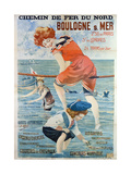 Poster Advertising the Seaside Resort of Boulogne Sur Mer, 1905 Giclee Print by Henri Gray