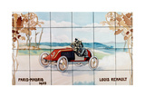 Louis Renault Driving in the Paris to Madrid Race of 1903; Ceramic Tiles Ma Giclee Print