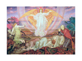 Death of the Dragon, 1914 Giclee Print by Evelyn De Morgan