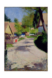 Road Through a Village, 1910 Giclee Print by Wlodzimierz Tetmajer