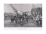 Russian Cossack Artillery During the Russo-Japanese War Giclee Print by Alfred Pearse
