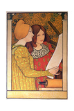 Two Girls with a Printing Press Giclee Print by Paul Berthon