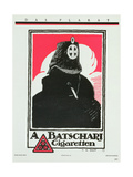 Advertisement for A. Batschari Cigarettes, from 'Das Plakat', a Collection of German Poster Art,… Giclee Print by Hans Rudi Erdt