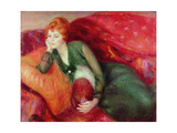 Young Woman in Green Giclee Print by William James Glackens