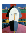 The Head of a Peasant, c.1929-32 Giclee Print by Kazimir Severinovich Malevich