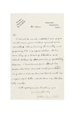 Letter to an Unnamed Publisher, Crowborough, East Sussex, 30 December 1910 Giclee Print by Arthur Ignatius Conan Doyle