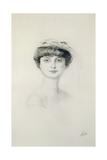 Portrait of Anna de Noailles (1876-1933) Giclee Print by Paul Cesar Helleu