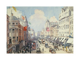 Regent Street, London Giclee Print by Cecil King