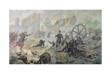 The Attack at Mailly-Le-Camp, During the First Battle of the Marne, 1914 Giclee Print by Paul Thiriat