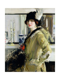 The Black Hat Giclee Print by Francis Campbell Boileau Cadell