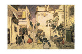 A Street in Seville, Sketch for the Stage Set for Bizet's Opera 'Carmen', 1906 Giclee Print by Aleksandr Jakovlevic Golovin