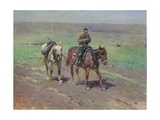 To the Budennyy Detachment, 1923 Giclee Print by Mitrofan Borisovic Grekov