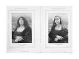 La Belle Otero and Mistinguett as the Mona Lisa, from an Article 'Les Sourires Qui Nous Restent'… Giclee Print by  Talbot
