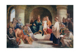 King Alfred (849-99) Submitting His Laws to the Witan, Illustration from 'Lives of Great Men Told… Giclee Print by John Bridges