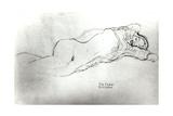 Reclining Woman, c.1914 Wydruk giclee autor Gustav Klimt