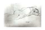 Reclining Woman, c.1914 Giclee Print by Gustav Klimt