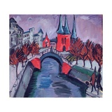 Red Elisabeth Riverbank, Berlin, 1912 Giclee Print by Ernst Ludwig Kirchner