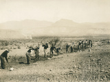 Apache Indians Building a Road, USA, 1903-07 Photographic Print by Charles C. Pierce