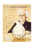 Caricature of Gabriel Faure (1845-1924) Creating Stars, from 'L'Assiette Au Beurre', 20th July 1907 Giclee Print by Emmanuel Barcet