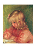 Child Drawing, 1905 Giclee Print by Pierre-Auguste Renoir