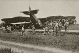 A German Plane after Being Shot Down over Oise, from 'L'Illustration', 1918 Photographic Print by  French Photographer