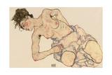 Kneider Weiblicher Halbakt, 1917 Giclee Print by Egon Schiele