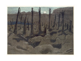 Sunrise, Inverness Copse, from British Artists at the Front, Continuation of the Western Front,… Giclee Print by Paul Nash