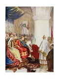 William (1027-87) Granting a Charter to the City of London, Illustration from 'Hutchinson's Story… Giclee Print by John Seymour Lucas