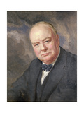 Portrait of Winston Churchill Giclee Print by Margery Forbes