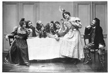Scene from the Opera 'La Boheme' by Ruggero Leoncavallo (1858-1919) at the Theatre de La… Photographic Print by  Cautin & Berger