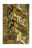 Ecclesia Sancta, Detail of Alma Mater Ecclesia, 1937 Giclee Print by Nicolas Untersteller