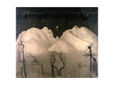 Winter Night in the Mountains, 1901-02 Giclee Print by Harald Oscar Sohlberg