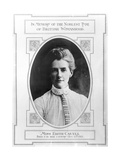 Miss Edith Cavell (1865-1915) Died for Her Country, October 12th 1915 Giclee Print