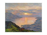 Sunset on Lake Geneva, 1907 Giclee Print by Marie Auguste Emile Rene Menard