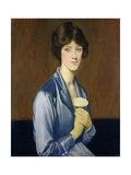The White Rose (Portrait of a Lady), 1919 Giclee Print by William Strang