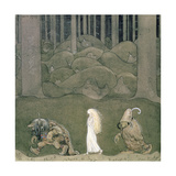 The Princess and the Trolls, 1913 Giclee Print by John Bauer