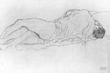 Gustav Klimt - Couple in Bed, c.1915 Digitálně vytištěná reprodukce