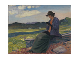 Lyndra in Wales, 1910-14 Giclee Print by Derwent Lees