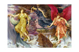 The Storm Spirits, 1900 Giclee Print by Evelyn De Morgan