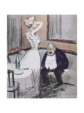 Prostitute and an Old Man from 'L'Assiette Au Beurre' Magazine, Pub. 1907 Giclee Print by  Tiamirol