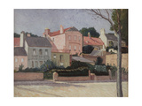 Houses in Hampstead, 1914 Giclee Print by William Strang