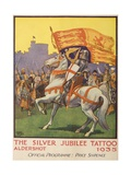 St. George with the Royal Standard from the Official Programme for the Silver Jubilee Tattoo,… Giclee Print by Ernest Ibbetson